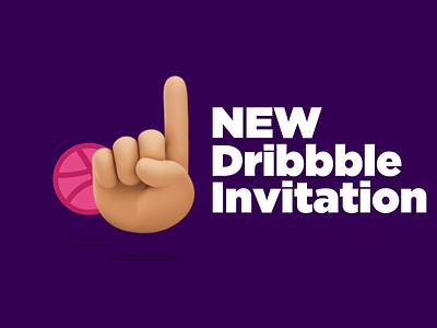 One Dribbble Invitation ☝🏼 dribbbleweeklywarmup typography vector ux logos brand illustration london branding ui dribbble best shot dribbble invite