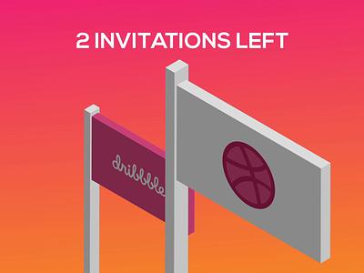 2 Dribbble Invitations brand uae saudi arabia ui design dubai designer dribbbleweeklywarmup designers vector dribbble invite egypt ux ui dubai logos invitations dribbble
