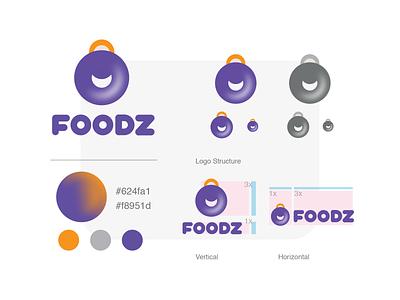 Foodz Logo brand bahrain animation saudi arabia arabic dubai qatar ui design illustration logos