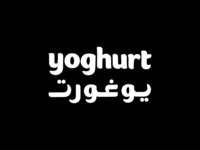 Yogurt Arabic, English Matching Typography