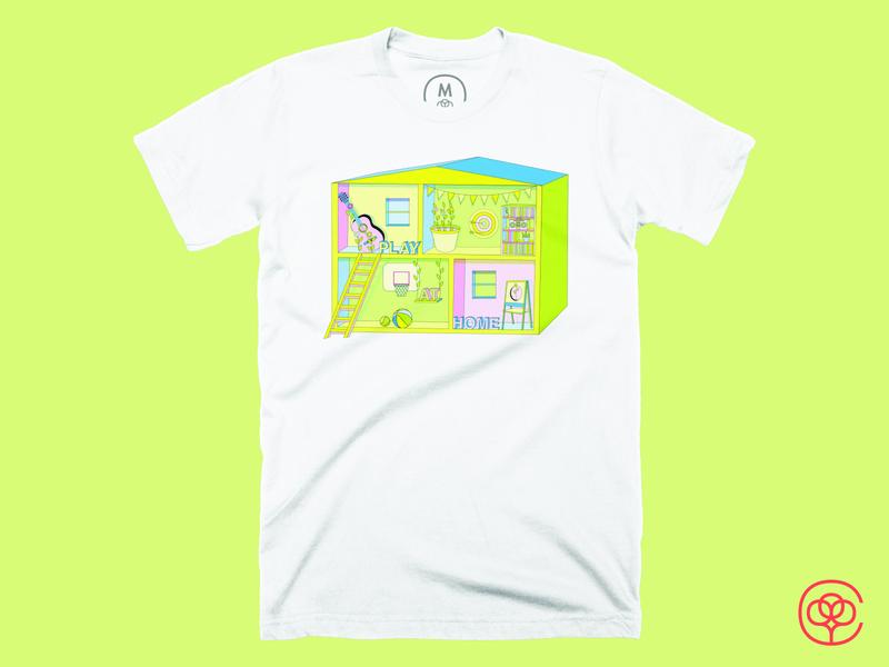 Play at Home illustration design illustrator illustration shirtdesign stayathome playathome cottonbureau