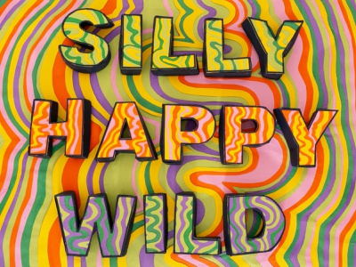Silly Happy Wild typogaphy papercraft music french paper paper design paper