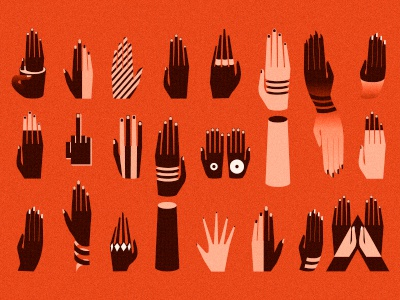 Need a hand? hands. gra[hic pattern illustration