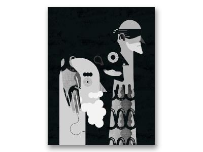 See No Evil three men illustration maxim
