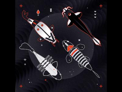 Sashimi carp shapes illustration fish