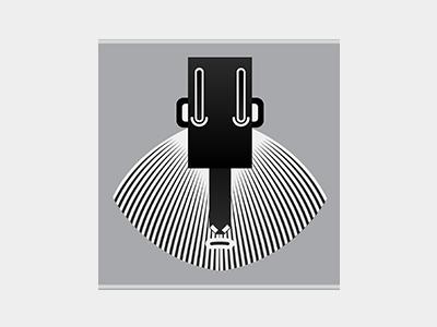 Jerry abstract simple shape adobeillustator cartoon blackandwhite vector monkey