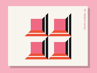 Pattern 05 square pink graphic pattern design adobeillustator shape abstract vector