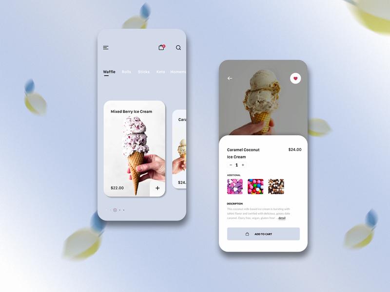 Ice Cream | Mobile App iceream cream ice mobile app design ux ui