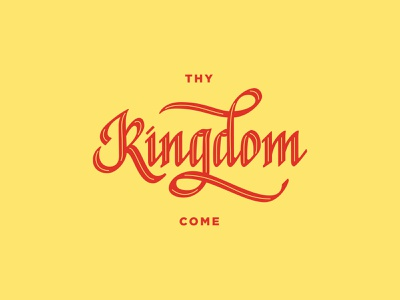 Kingdom Come lettering logo gothic lettering gothic brushcalligraphy vintage typography logo design chalk lettering chalk lettering