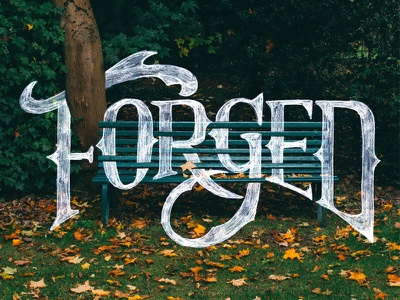 Forged autumn branding typography lettering
