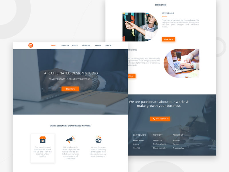 Landing Page Design For Advertising Company By Karthikraja On Dribbble