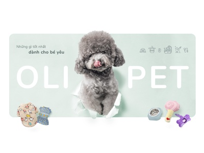 Pet shop banner banner pet