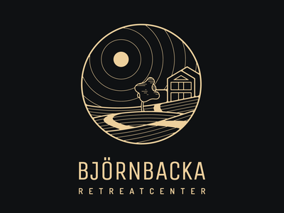 Logotype for Björnbacka Retreatcenter illustration brand logo logotyp