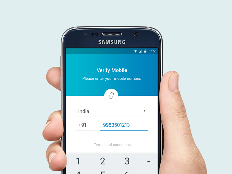 Verify Mobile Number by Dhiraj S  Karki on Dribbble