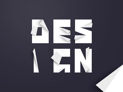 Design - Origami graphic paper gray design origami