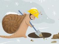 Snail digs