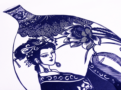 chinese paper cutting illustrations