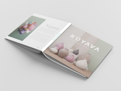 Kuyava Product Book logo chennai blender 3d art book cover product design ceramics clay ceramic