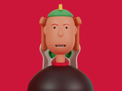 Cute (kutty) Satan 3d art uielements characterdesign blender3d 3dart 3d animation