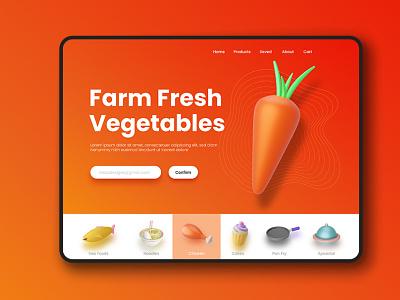 Kitchen/Food 3D Icon Set uidesign blender 3d ui