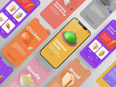 Kitchen/Food 3D Icon Set blender productdesign