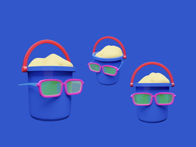 Summer icon blender 3dillustration animation motion graphics 3d ui