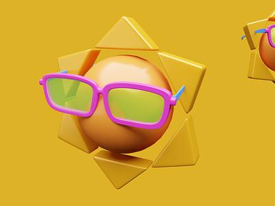 Sun 3d blender 3dillustration ui illustration