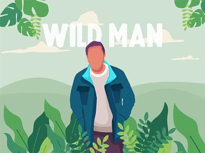 WILD MAN animation motion graphics art procreate tamilnadu chennai illustration