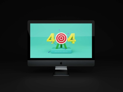 404 Error Page 3dillustration 3d 404page errorpage 404 ui
