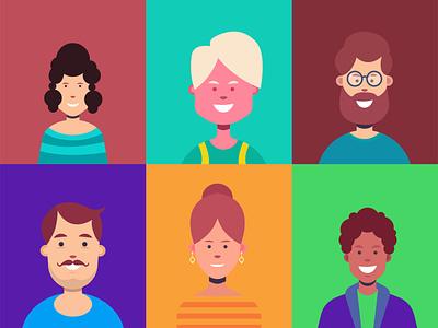Faces Illustration face 3d motion graphics humanillsuatraion characterillustration illustration