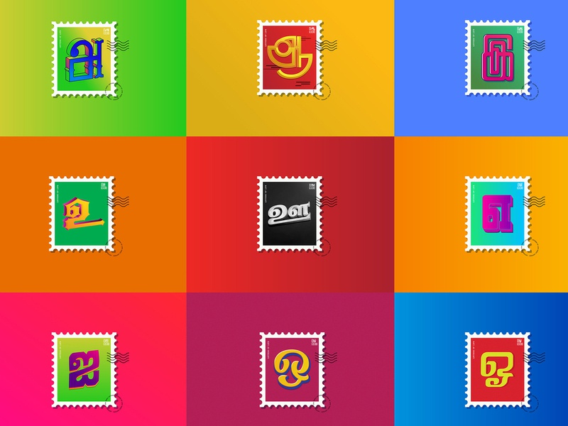 Letters of Life logo branding suman graphic design stamps tamilletters aathichoodi tamil chennai design typography caligraphy illustration tamiltypography tamilnadu