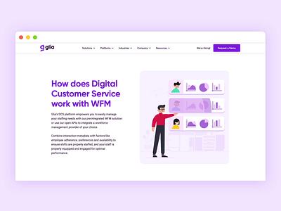 Web Animation web design web illustrator glia motion design after effects motion graphics animation