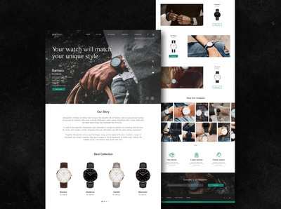 """Burano"" UI/UX Redesign Concept / Website version webdeisgn website design shop burano redesign watches web black user inteface user experience ux ui concept design"