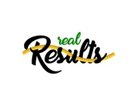 """""""Real Results"""" logo concept for losing weight company"""