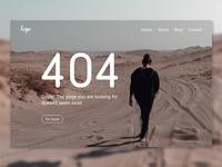 404 Not Found Error UI design concept