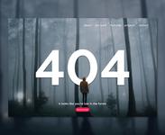 404 Not Found Error Page UI design concept