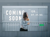 """""""Coming Soon"""" UI design page concept for Fashion Website"""