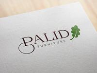 """Palıd"" logo design concept for oak furniture company"
