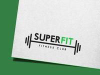 """Super Fit"" fitness club logo design concept"