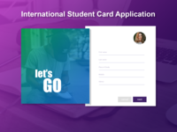 """Student Card Application"" Form design concept"