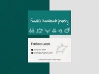 Business card for Handmade jewelry boutique