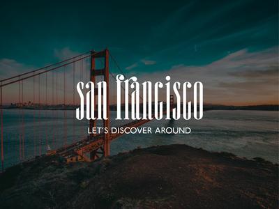 Logo concept for guide center of San Francisco