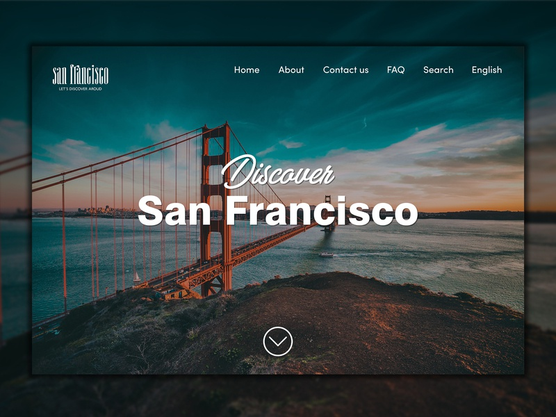 WebSite concept for guide center of San Francisco UI/UX design center guide concept america san francisco user experience user inteface ux  ui website