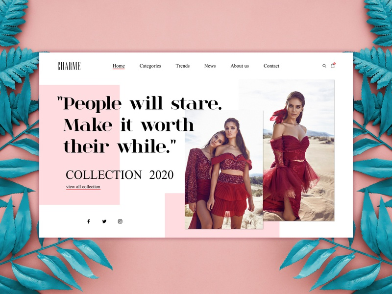 Fashion UI Design concept girl woman webdesign user inteface design ux ui typography user experience user interface uxdesign uidesign uiux fashion