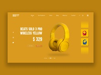 Wireless Headphones Product Page UI concept design. Beats