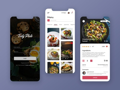 Food Ordering App UI Design dish meal food ordering mobile app design mobile app mobile ui app user inteface user experience ui ux concept design