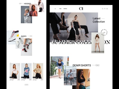 Fashion Website branding shop brand digital product animation design clean typography after effects motion minimal creative ui webdesign web
