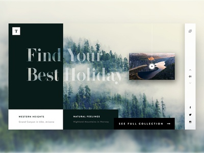 Travel - Landing page website web minimal illustrator photoshop banner travel landingpage ux ui
