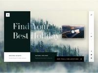 Travel - Landing page