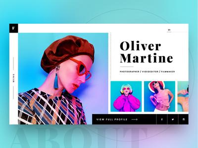 About page iphone 11 responsive profile fashion website gradient photoshop banner landingpage ux ui